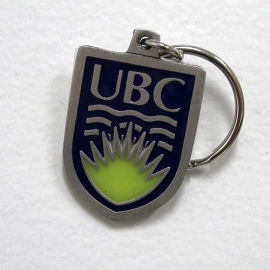 Keychain - UBC coloured crest keychain