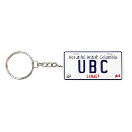 KEYCHAIN - UBC License Plate