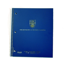 UBC imprinted 3 subject notebook 11x8.5