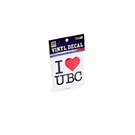 DECAL - 3X3 I Heart UBC