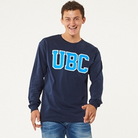Long Sleeve Shirt - UBC Basic Navy Blue