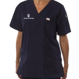 Top - unisex scrub v-neck ubc nursing