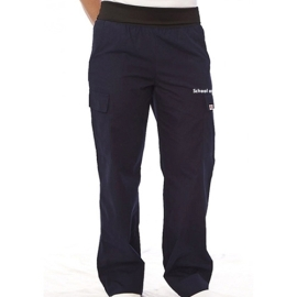 UBC scrub pant body flex fold over waistband