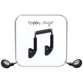 Earbuds - Happy Plugs in-ear - black