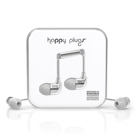 Earbuds - Happy Plugs in-ear - silver
