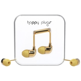 Earbuds - Happy Plugs in-ear - gold