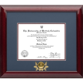 Diploma Frame - Wood Frame Gold Medallion