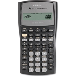 Calculator - BAII plus business calculator Texas Instruments