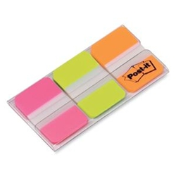 Post-it tabs - durable tab (pink/green/orange)