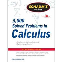 PROBLEMS IN CALCULUS 3,000 SOLVED SCHAUMS