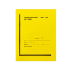 University Physics Yellow Lab Notebook