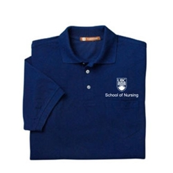 Nursing Embroidered Golf Shirt 100% Micro Polyester