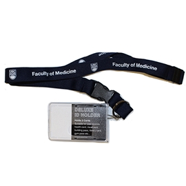 "FOM Badge and Lanyard - 3/4"" w/ Clear ID Holder and Safety Release"