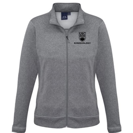 KUS <font color = &quot;red&quot;> Personalized </font> BizHype Women's Drytech Jacket Grey