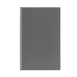 Notebook - Sauder Recycled 1 Subject Ruled Charcoal Small