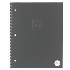 Notebook - UBC Recycled Large 1 Subject Ruled Charcoal