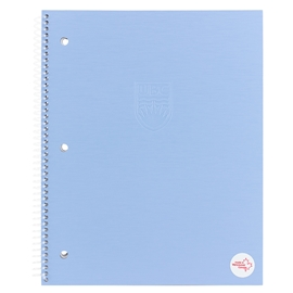 Notebook - UBC Recycled Large 1 Subject Ruled Serenity Blue
