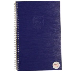 Notebook - UBC Recycled Small 1 Subject Ruled Exclusive Monaco Blue