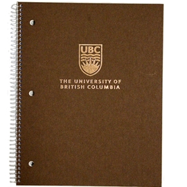 Notebook - UBC Brown Rose Gold 2 Subject Ruled