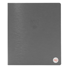 "Binder - UBC Recycled 1"" Debossed Brushed Steel Charcoal"