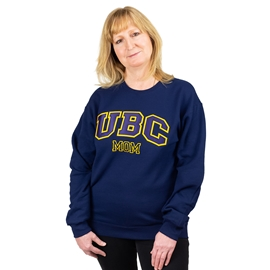 Sweatshirt - UBC Mom Unisex Crewneck Twill Navy