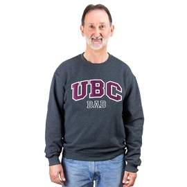 Sweatshirt - UBC Dad Unisex Crewneck Twill Charcoal