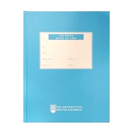 Notebook - UBC Lab Notes Blue