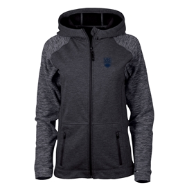Jacket - UBC Womens Hybrid Heathered Black and Charcoal