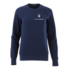 FOM Crewneck - Women's Elevate Fleece Crew Sweatshirt Navy