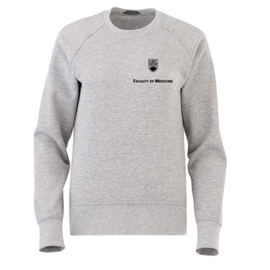 FOM Crewneck - Women's Elevate Fleece Crew Sweatshirt Grey