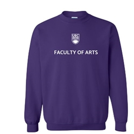 "Arts Sweatshirt  - Classic <font color = ""red""> Personalized </font> Unisex Crewneck Purple"