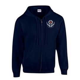 Midwifery Sweatshirt - Men's Heavy Blend Zip-Up Hoodie Navy