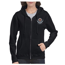 Midwifery Sweatshirt - Women's Heavy Blend Zip-Up Hoodie Black
