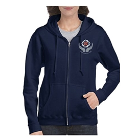 Midwifery Sweatshirt - Women's Heavy Blend Zip-Up Hoodie Navy
