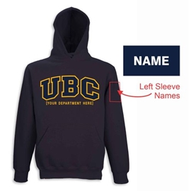 "Hoodie - Customizable Faculty UBC Twill Hood <font color = ""red"">w/ Sleeve Personalization</font> - Navy"