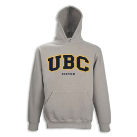 Hoodie - Customizable Family UBC Twill Hood - Grey