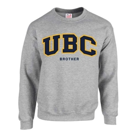 Crewneck - Customizable Family UBC Twill Crew - Grey