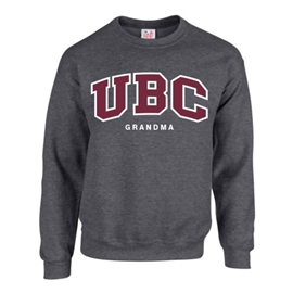 Crewneck - Customizable Family UBC Twill Crew - Charcoal