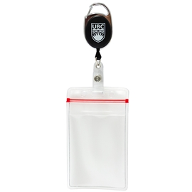 ID Holder - UBC Carabiner Reel with Mylar Pouch