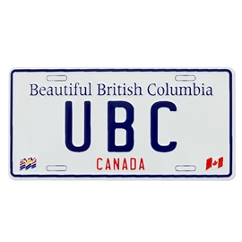 Magnet - UBC License Plate