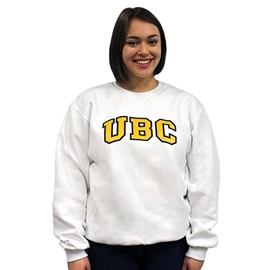 Sweatshirt - Crewneck -  UBC Basic White