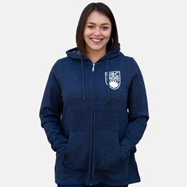 Sweatshirt - Hoodie - Women's Cozy Lounge Full Zip Navy Blue