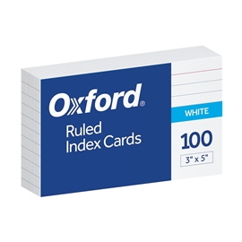 Filing - Oxford 3x5 Ruled Index Card White