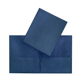 Filing - Hilroy Dark Blue Twin Pocket Porfolio
