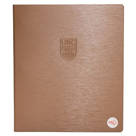 "Binder - UBC Recycled 1"" Debossed Brushed Steel Copper"