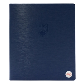 "Binder - UBC Navy 1"" Recycled Debossed Brushed Steel Navy"