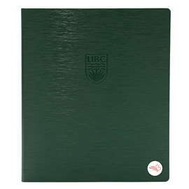 "Binder - UBC Recycled 1"" Debossed Brushed Steel Olive"