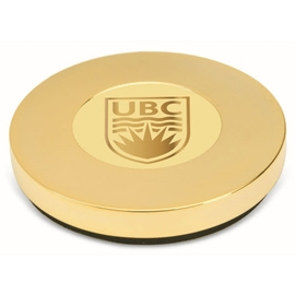 Paperweight - UBC Round Gold Plated