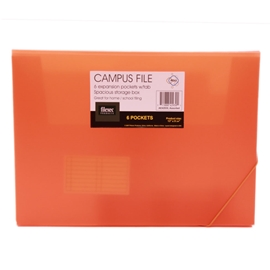 Filing - Sasaki Neon Campus File 6 Pocket Assorted Colours