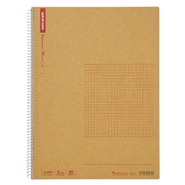 Notebook - Maruman Basic Kraft A4 Spiral Grid